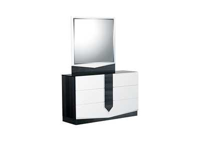 Hudson Grey/White Dresser and Mirror,Global Furniture USA