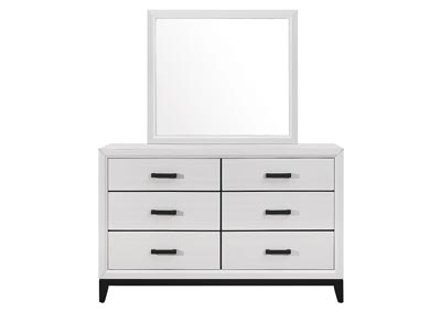 Kate White Dresser and Mirror,Global Furniture USA
