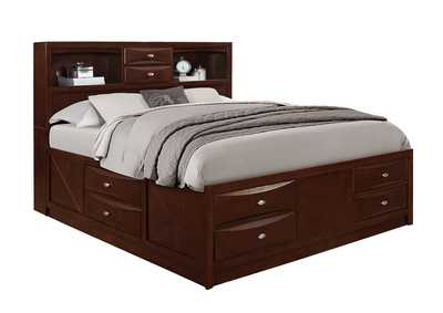 Linda Merlot Queen Bed,Global Furniture USA