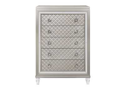 Paris Champagne Chest With Acrlyic Legs,Global Furniture USA