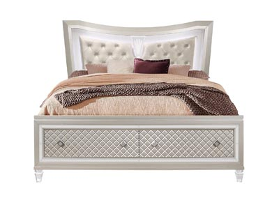 Paris Champagne Queen Bed