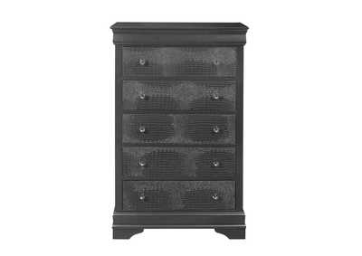 Pompei Metallic Grey Chest,Global Furniture USA