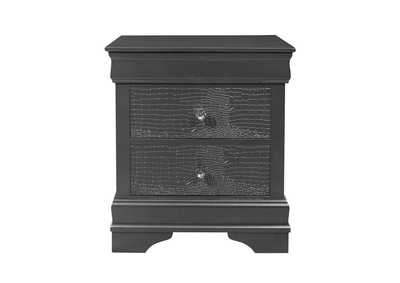 Pompei Metallic Grey Nightstand,Global Furniture USA