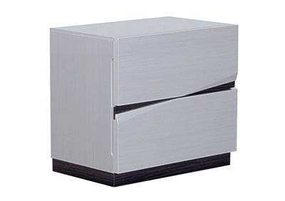 Scarlett Silverline/Zebra Grey Nightstand