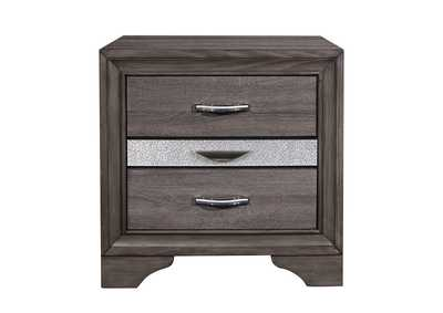 Seville Grey Nightstand,Global Furniture USA