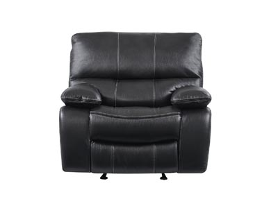Grey/Black Glider Recliner