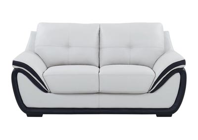 Natalie Light Grey/Black Loveseat,Global Furniture USA