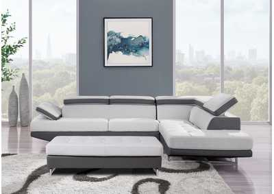 Light & Dark Grey Sectional