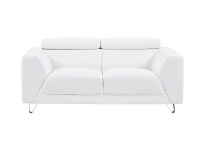 Pluto White Loveseat