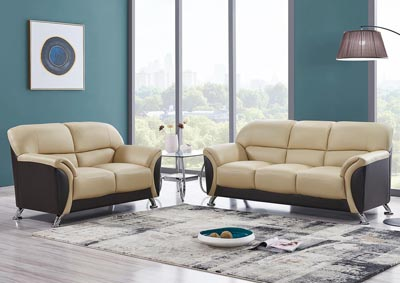 Image for Cappuccino & Chocolate Sofa & Loveseat