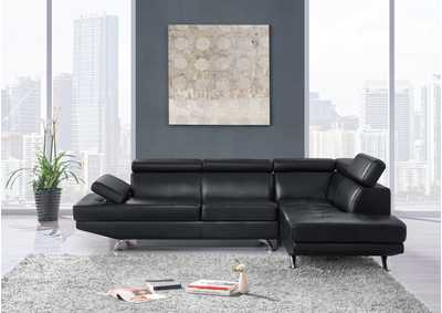 Black 2Pc Sectional,Global Furniture USA