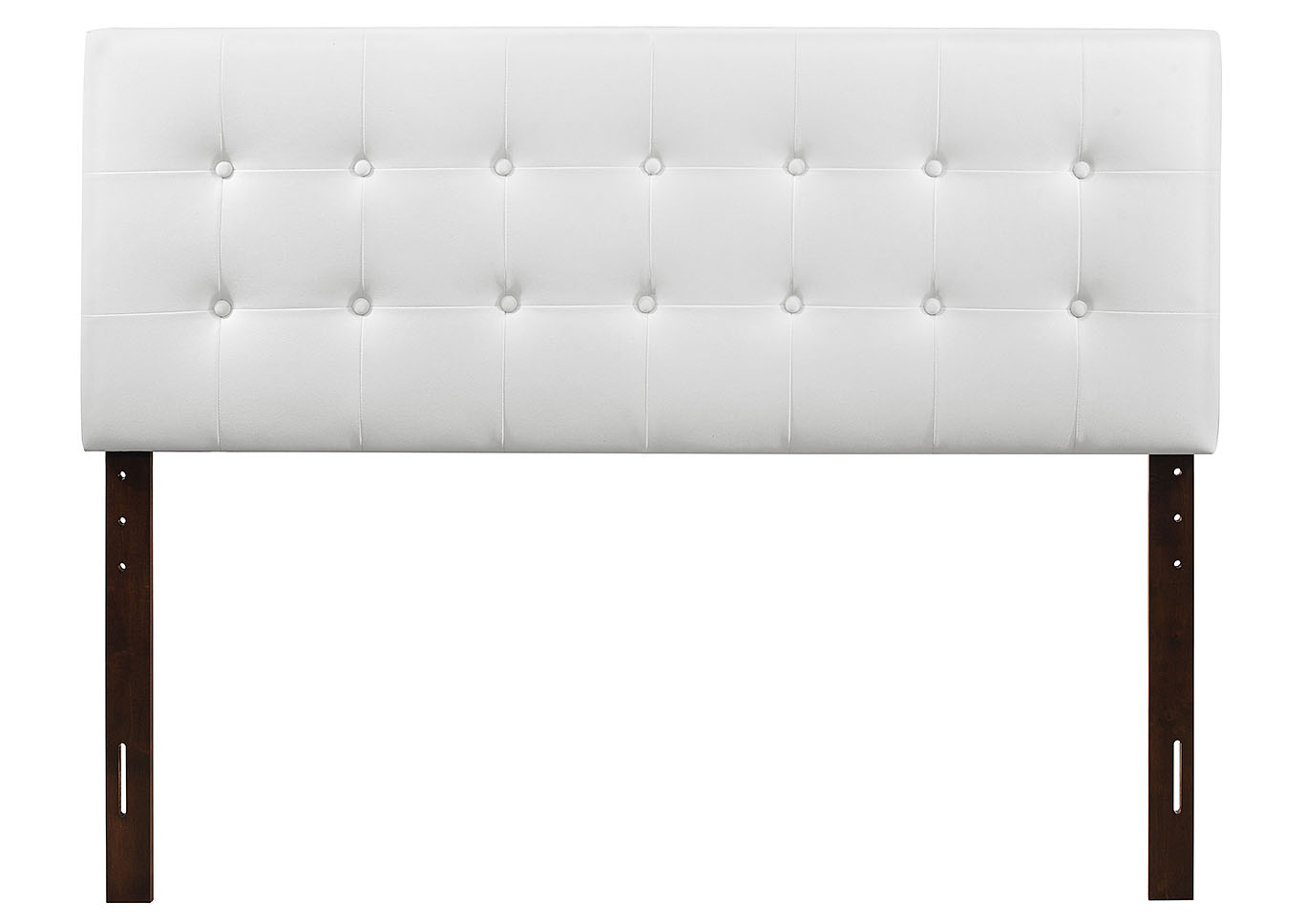 White Upholstered Queen Headboard,Glory Furniture