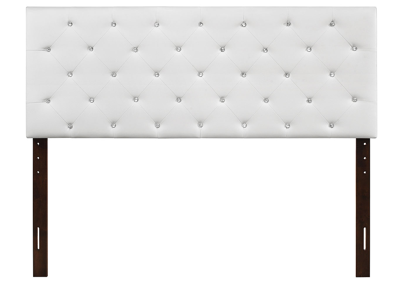 White Upholstered Twin Headboard,Glory Furniture