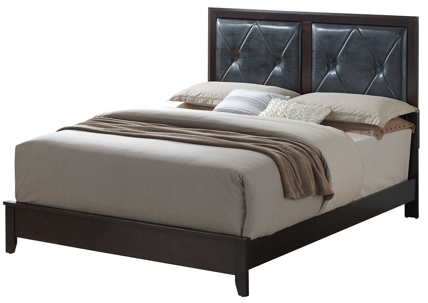 Dark Cappuccino Queen Platform Bed,Glory Furniture