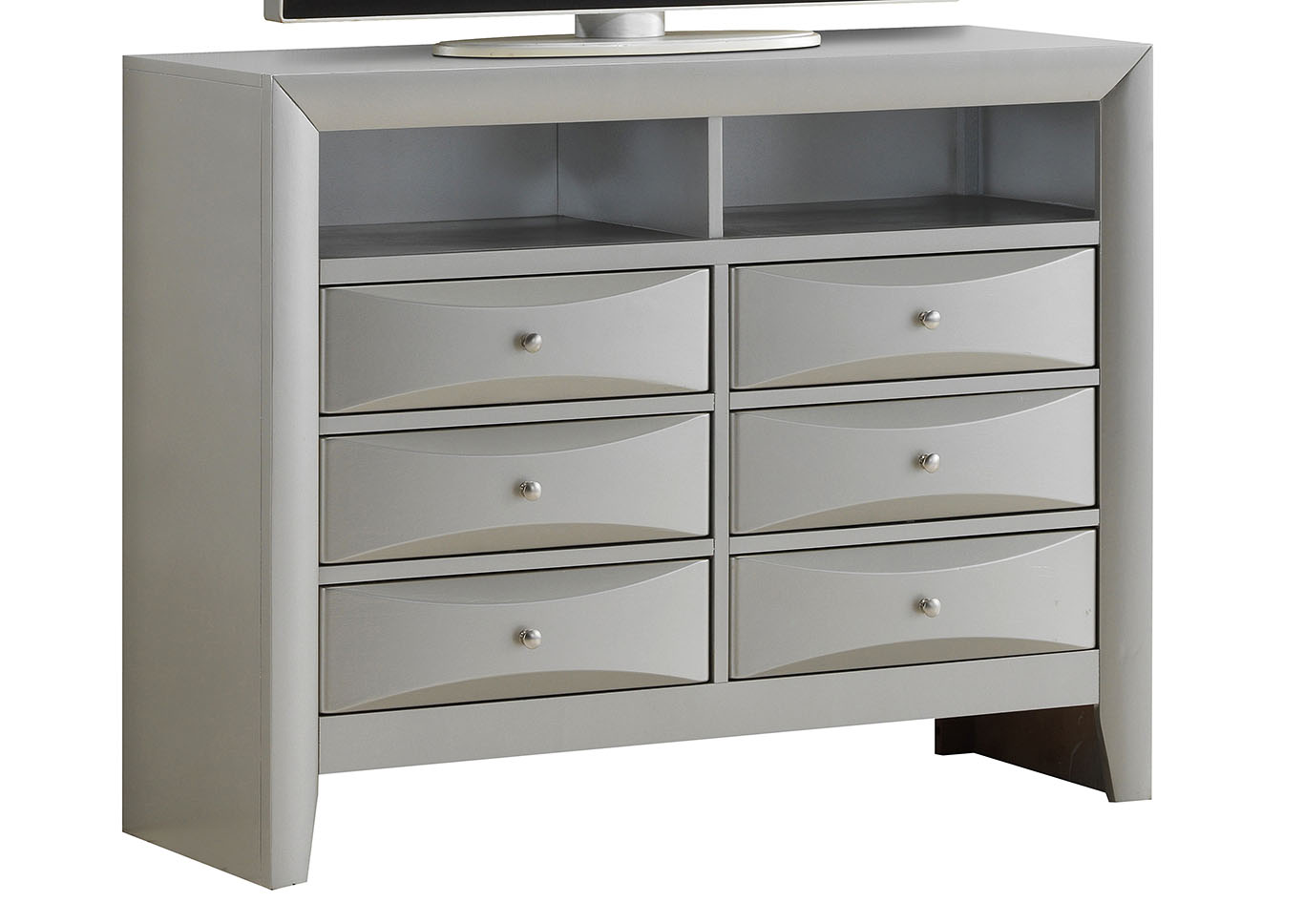 Gray Media Chest,Glory Furniture