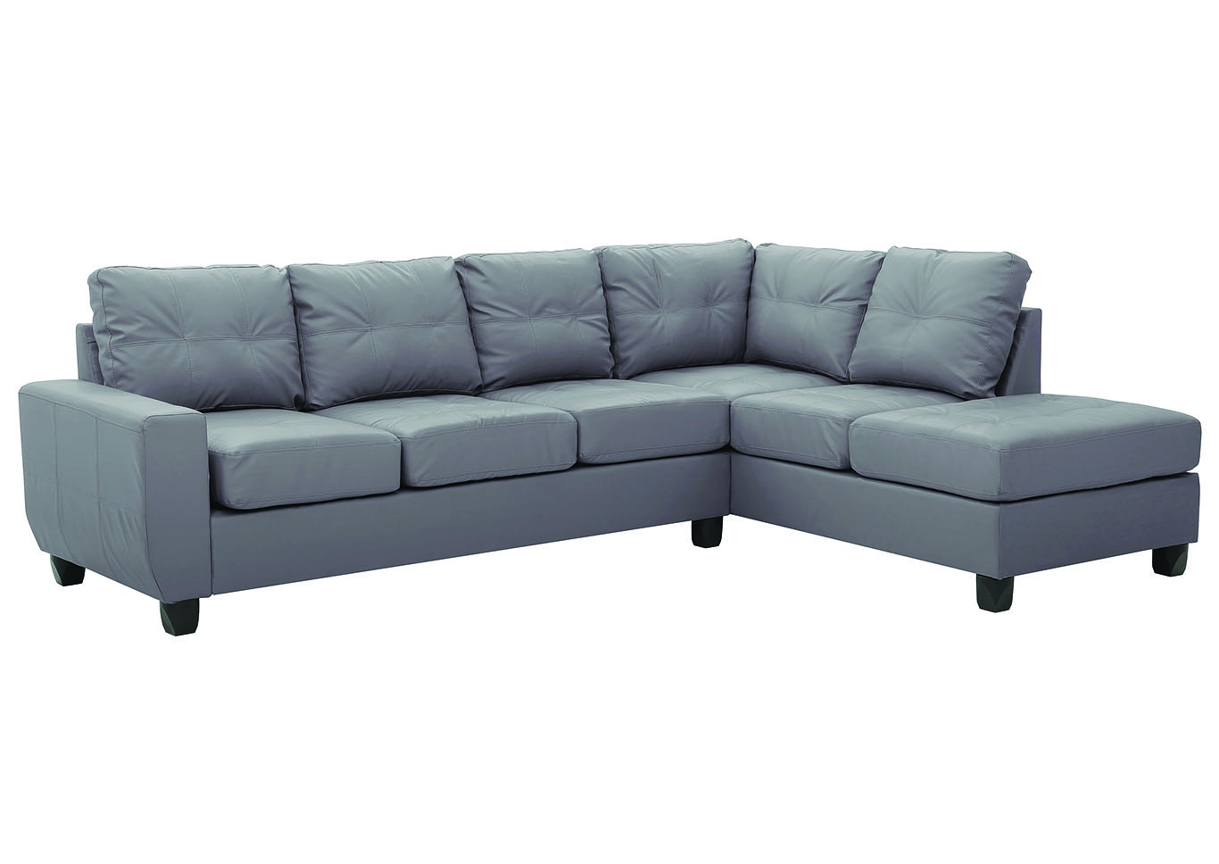 Gray Faux Leather Sectional,Glory Furniture
