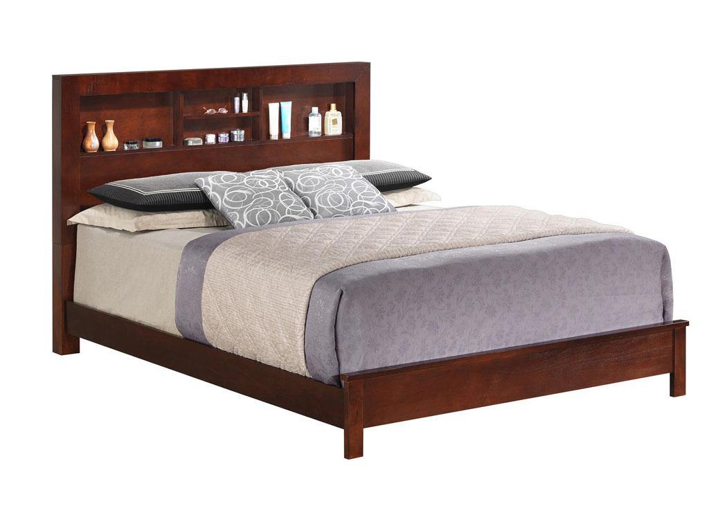 Cherry King Bed W Bookcase Headboard American Furniture Design