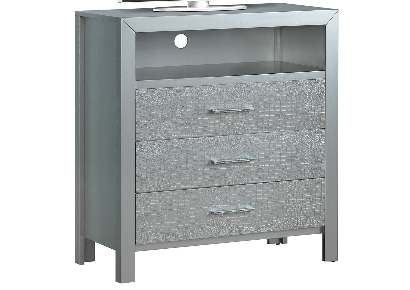 Silver Champagne Media Chest,Glory Furniture
