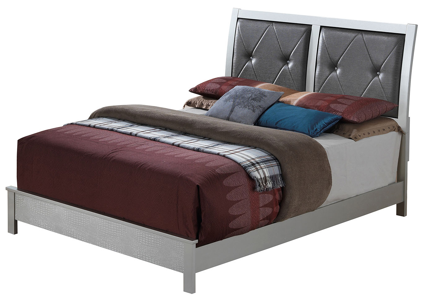 Silver Champagne King Platform Bed,Glory Furniture