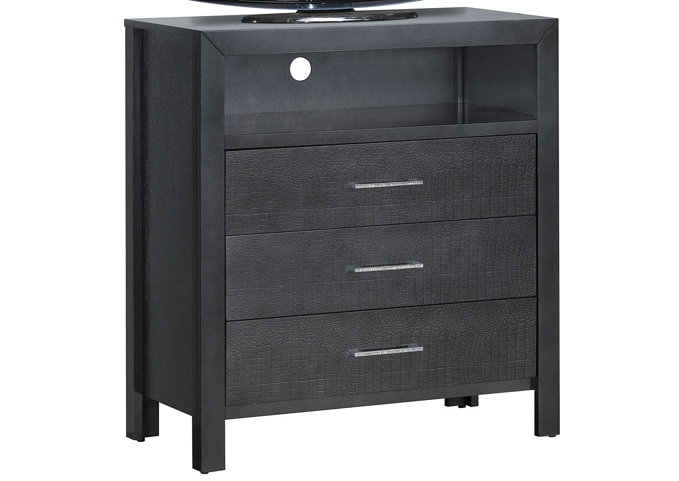 Black Media Chest,Glory Furniture