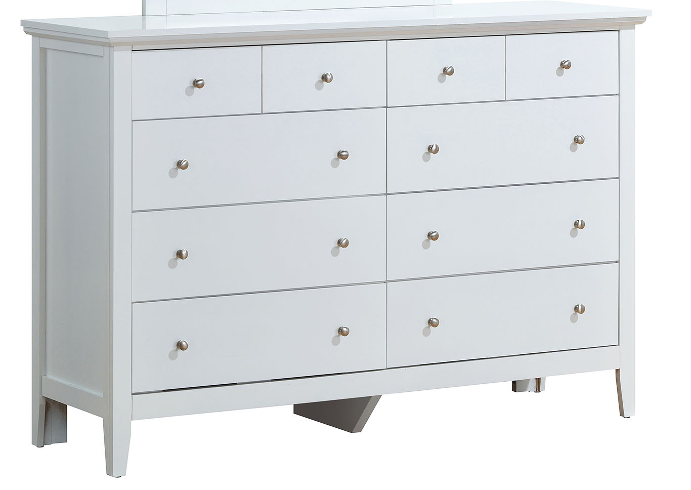 White 8 Drawer Dresser,Glory Furniture