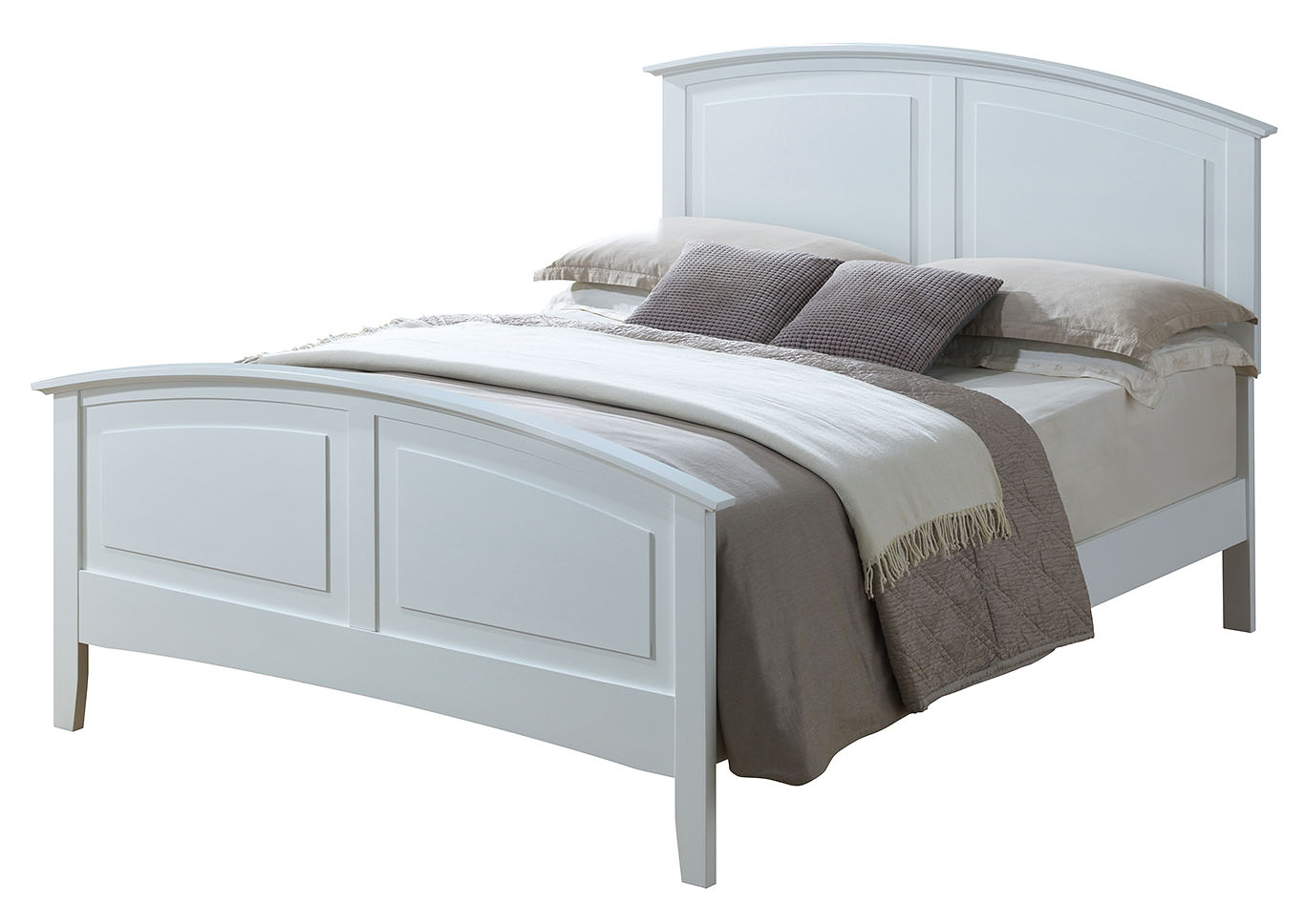 White Queen Size Panel Bed,Glory Furniture