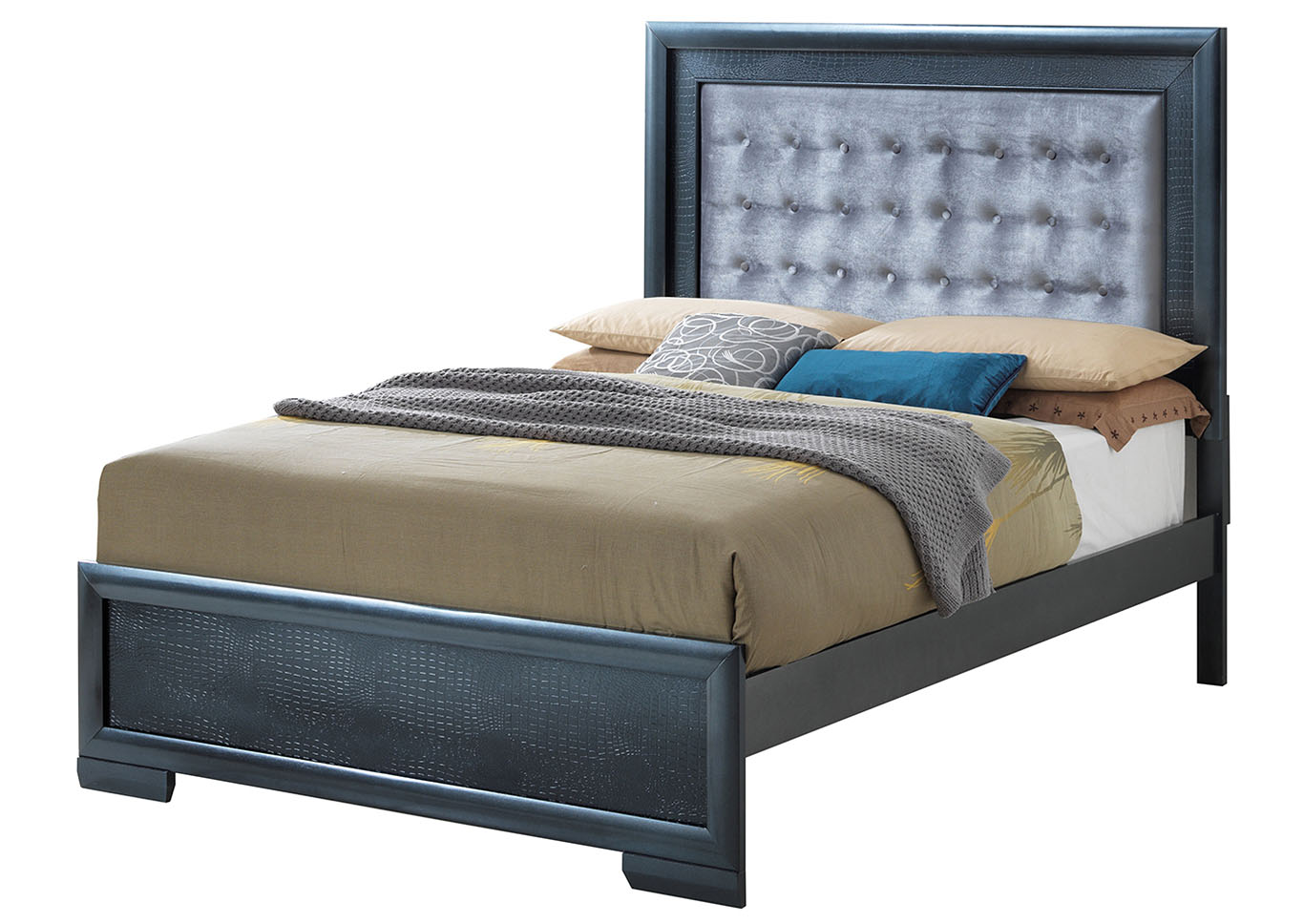 Charcoal King Panel Bed,Glory Furniture