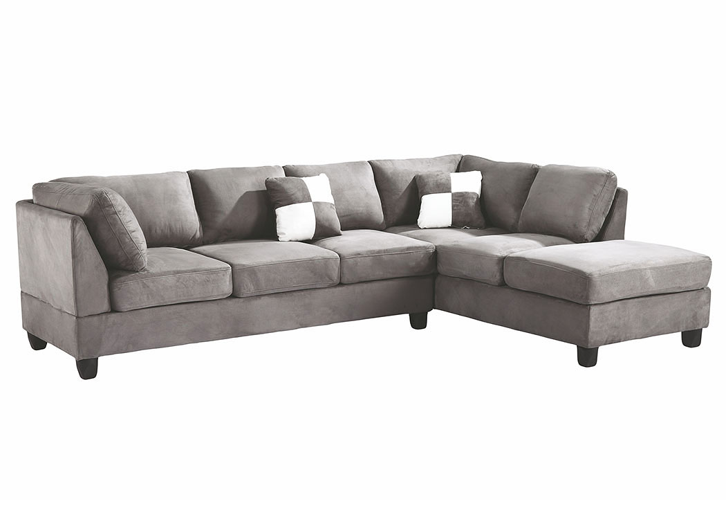 Grey Suede Sectional,Glory Furniture