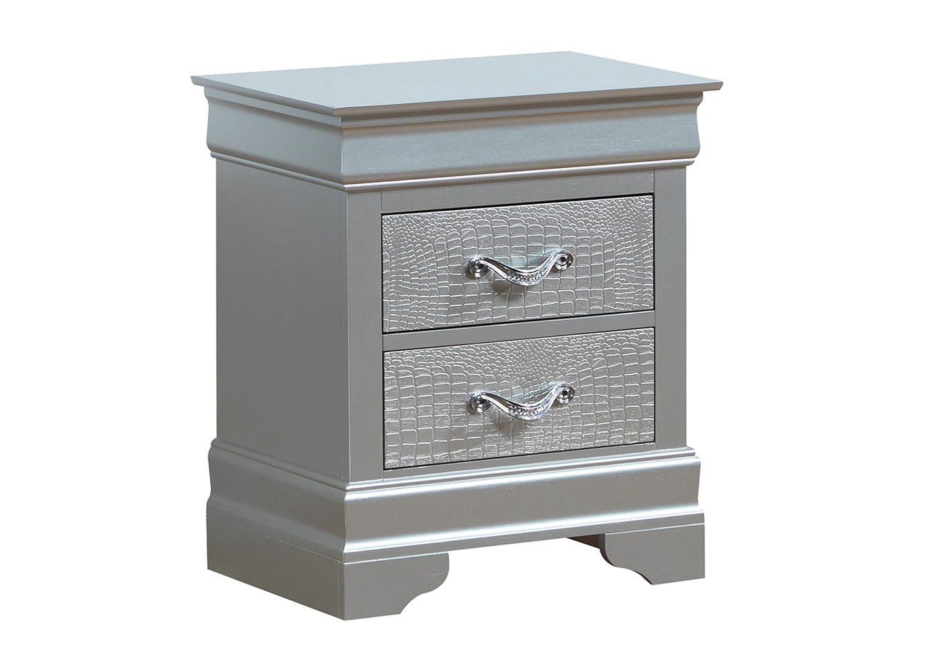 Silver Champagne Nightstand,Glory Furniture