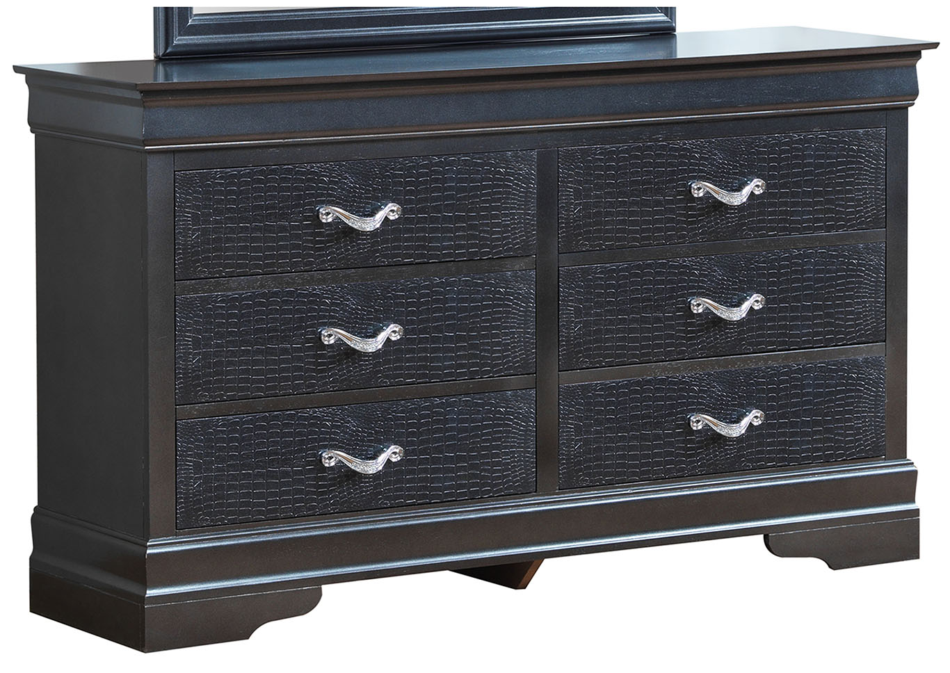 Charcoal 6 Drawer Dresser,Glory Furniture