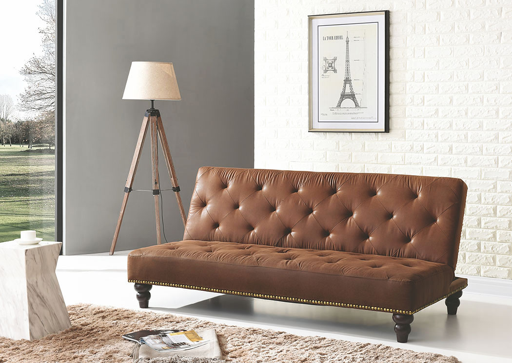 Picture of: Winchester Brown Convertible Sleeper Sofa Best Buy Furniture And Mattress