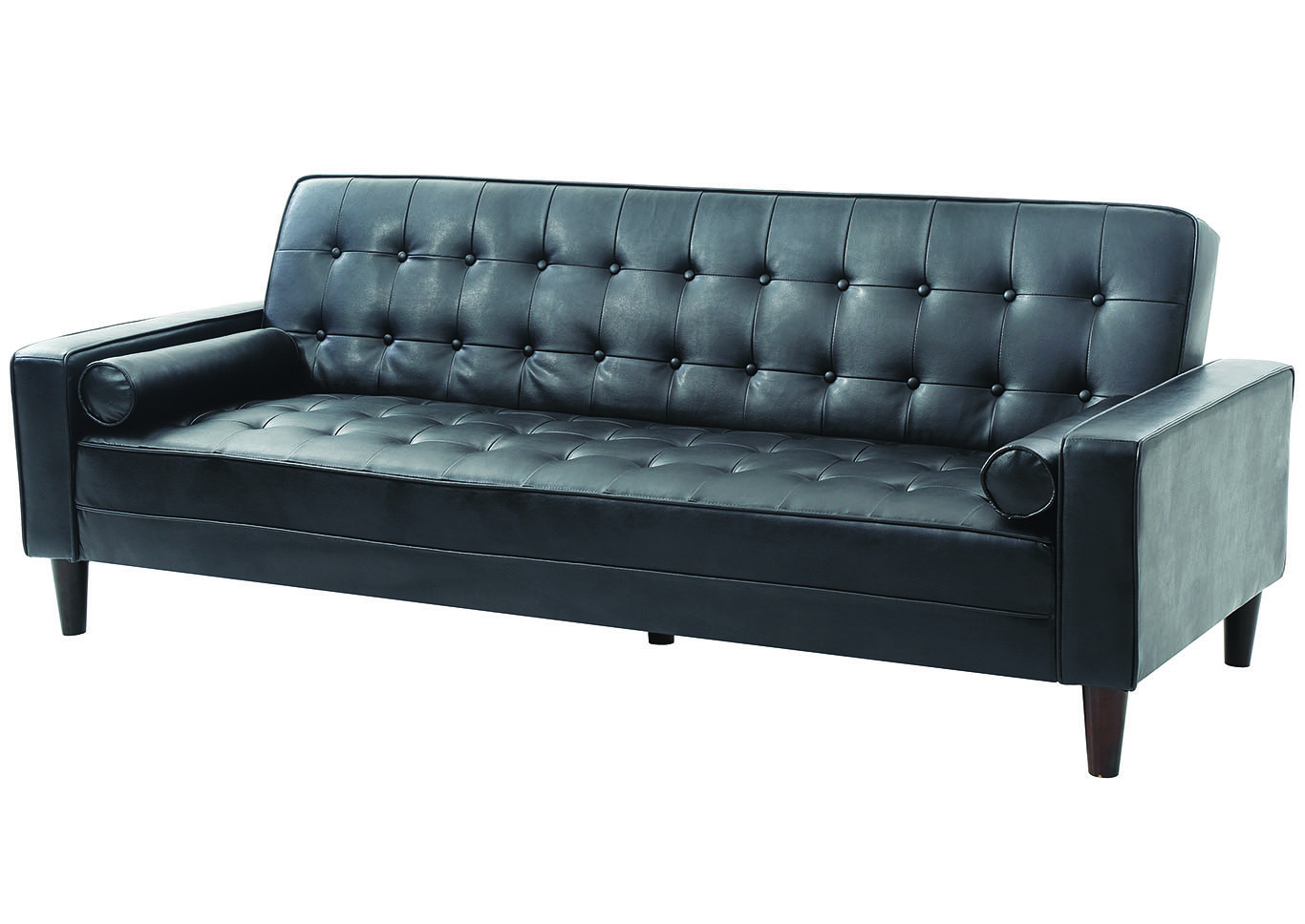 Black PU Sofa Bed,Glory Furniture