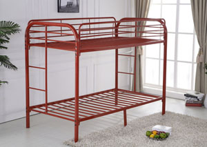 Image for Red Twin/Twin Bunkbed w/ Bracket