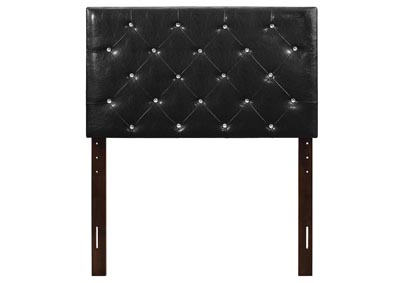 Image for Black Upholstered Twin Headboard