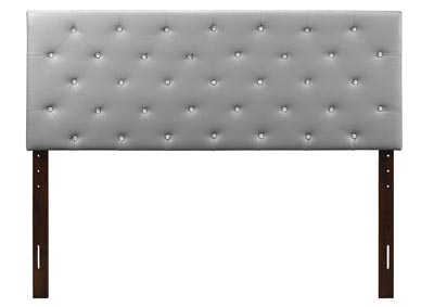 Image for Light Gray Upholstered Twin Headboard