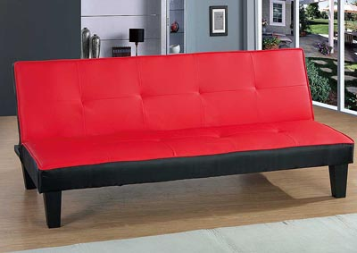 Image for Red & Black Sofa Bed