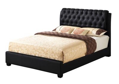 Image for Black Queen Upholstered Bed