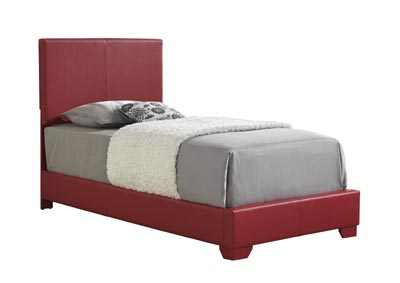 Red Twin Bed