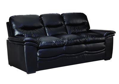 Image for Black Bonded Leather Sofa