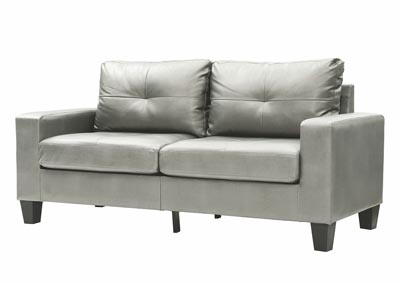 Image for Newbury Antiqued Silver Faux Leather Modular Sofa