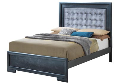 Charcoal King Panel Bed