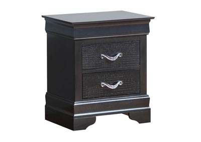 Charcoal 2 Drawer Nightstand