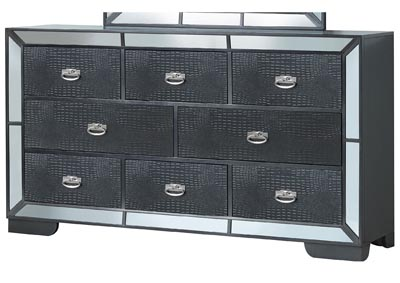 Black 8 Drawer Dresser