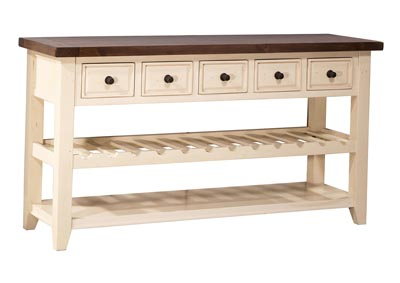 Image for Tuscan Retreat Wine Rack Hall Table with 5 Drawers