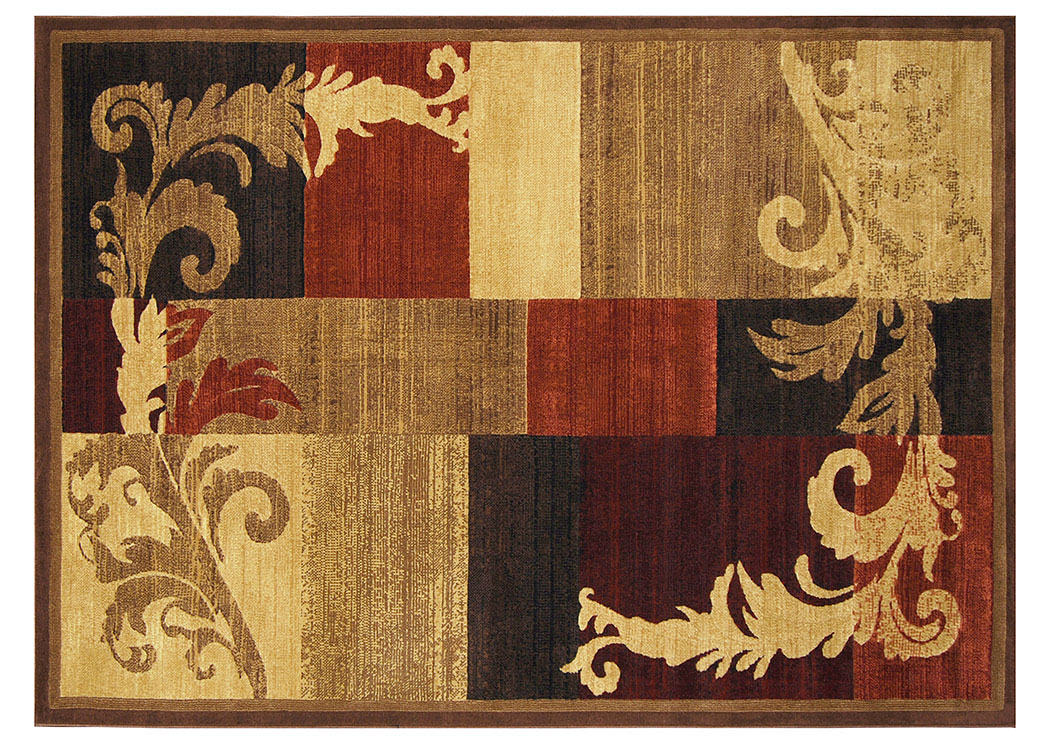 "Catalina Brown Red Rug 5'3"" X 7'2"",Home Dynamix"
