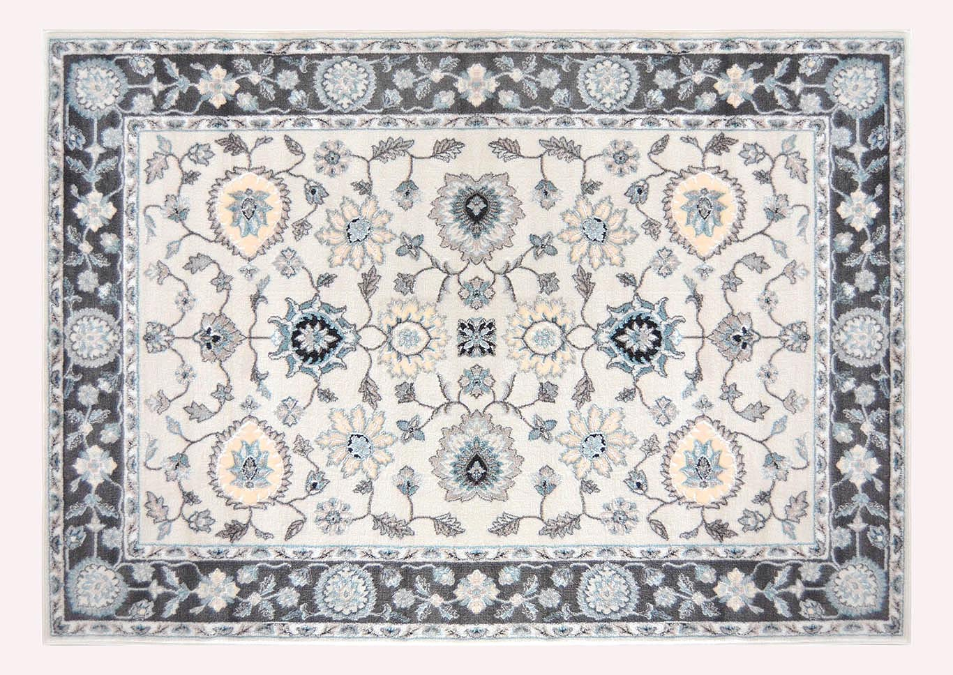 "Oxford Cream-Gray Area Rug 5'2"" x 7'2"",Home Dynamix"