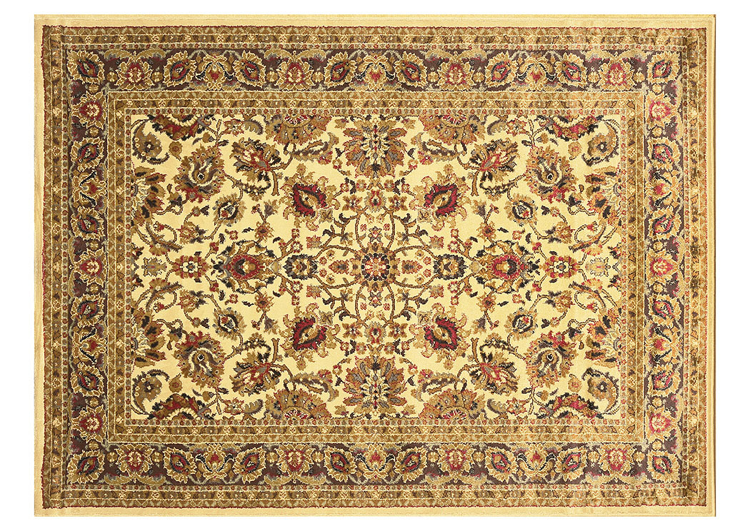 "Royalty Ivory Rug 5'2""X7'2"",Home Dynamix"