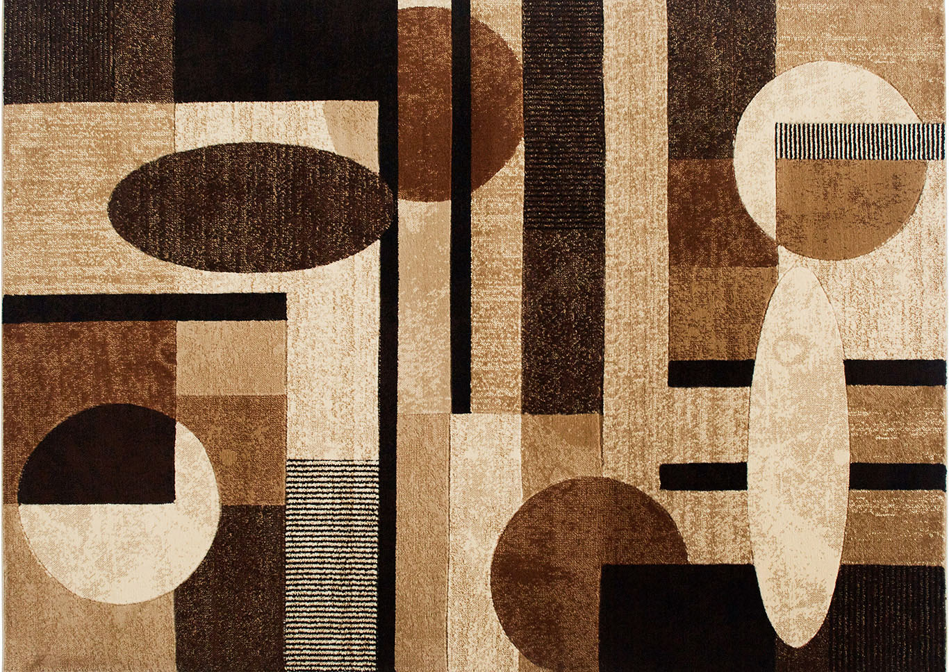 Home Dynamix Tribeca Jasmine Contemporary Area Rug 9 2 X12 5 Geometric Brown Beige Black Shoppers World Flooring Furniture