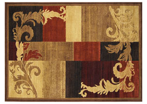 "Catalina Brown Red Rug 5'3"" X 7'2"""