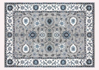 "Oxford Beige-Cream Area Rug 5'2"" x 7'2"""